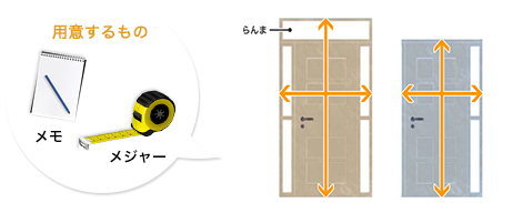 玄関ドアサイズの測り方