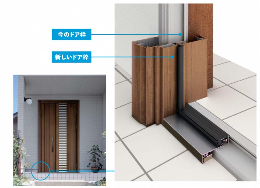 一日でできる玄関リフォーム カバー工法とは